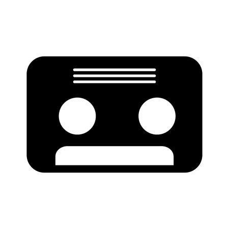 Retro cassette geïsoleerd pictogram vector illustratie ontwerp
