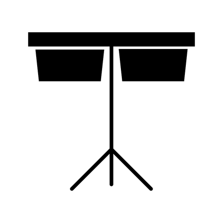 timpani music instrument icon vector illustration design