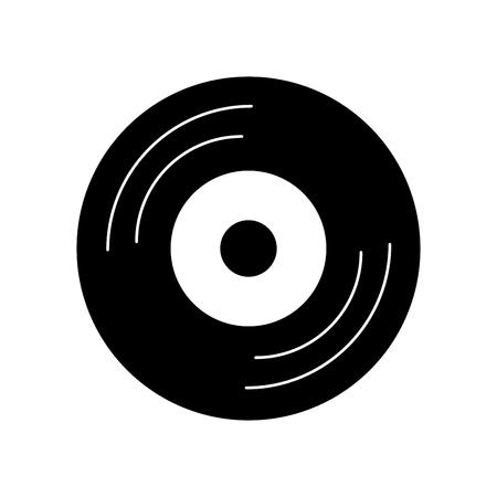 vinyl old music icon vector illustration design