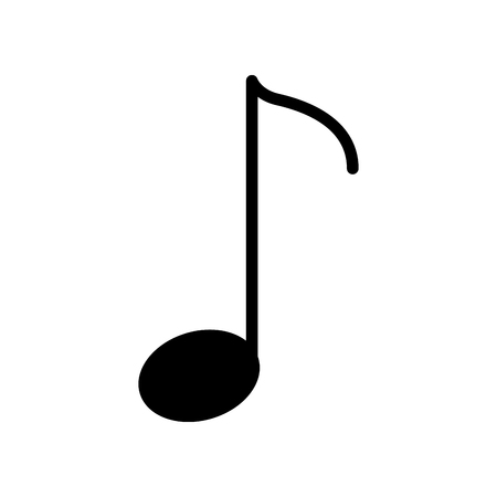 music note isolated icon vector illustration design Çizim