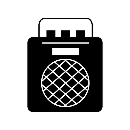 radio music player icon vector illustration design
