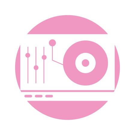 vinyl player console icon vector illustration design 向量圖像