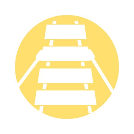 xylofoon muzikaal instrument icoon vector illustratie ontwerp