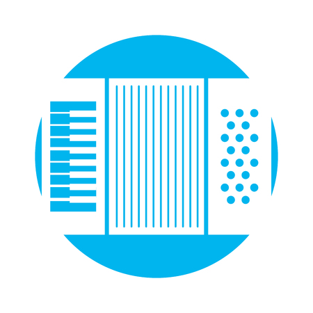 accordion musical instrument icon vector illustration design