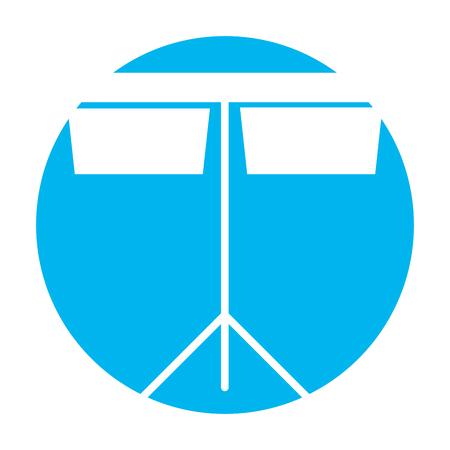 timpani music instrument icon vector illustration design
