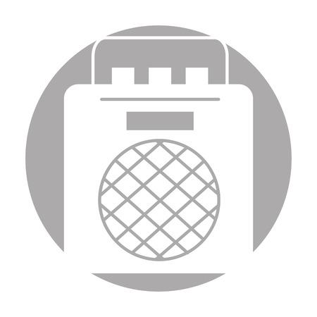 Illustrazione di illustrazione vettoriale icona del giocatore di musica radiofonico Archivio Fotografico - 83257207