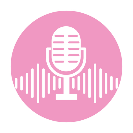 マイク音声の分離アイコン ベクトル イラスト デザイン  イラスト・ベクター素材