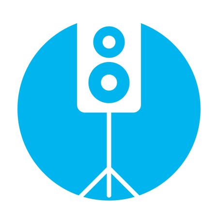 스피커 오디오 격리 아이콘 벡터 일러스트 디자인