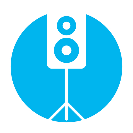 speaker audio isolated icon vector illustration design Illustration