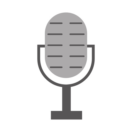 microphone audio isolated icon vector illustration design Stok Fotoğraf - 83255594