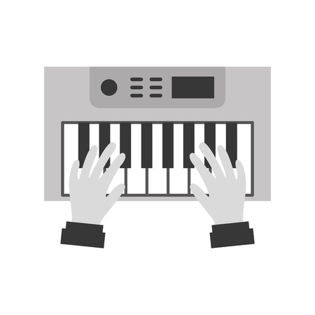 hands user with Synth console vector illustration design Reklamní fotografie - 83255757