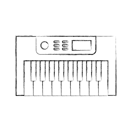 Synth console isolated icon vector illustration design Reklamní fotografie - 83255965