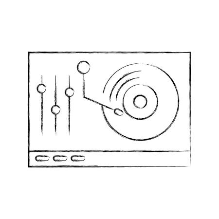 vinyl player console icon vector illustration design Ilustração