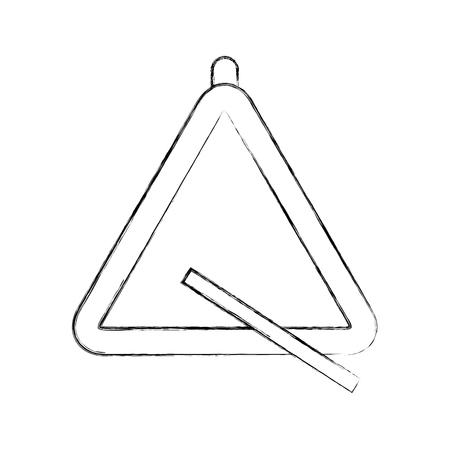 triangle instrument musical icon vector illustration design Иллюстрация