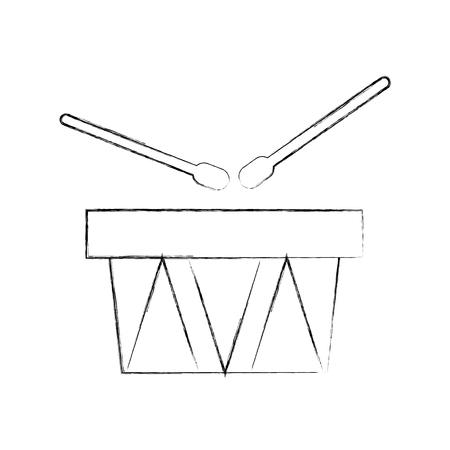 drums musical instrument icon vector illustration design Illustration