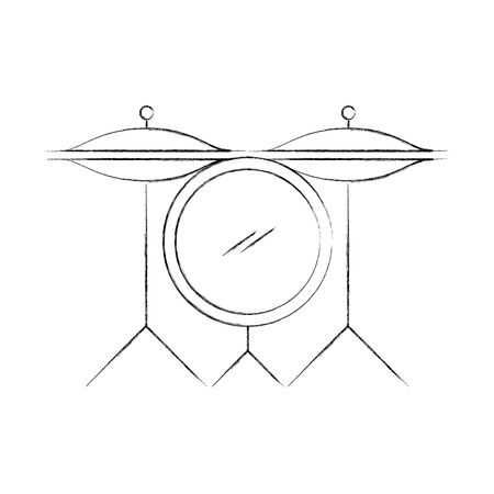 battery drums instrument icon vector illustration design