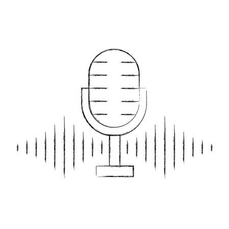 microphone audio isolated icon vector illustration design
