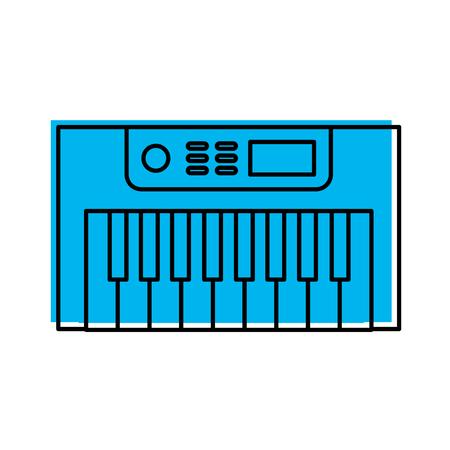 Synth 콘솔 격리 아이콘 벡터 일러스트 디자인