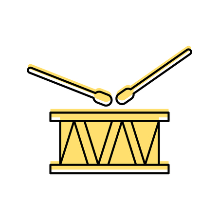 drums musical instrument icon vector illustration design Иллюстрация