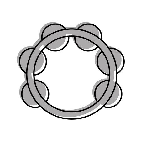 tamboerijn muziekinstrument pictogram vector illustratie ontwerp Stock Illustratie