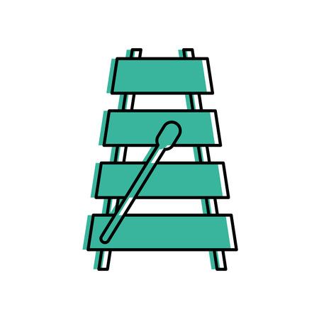 木琴楽器アイコン ベクトル イラスト デザイン