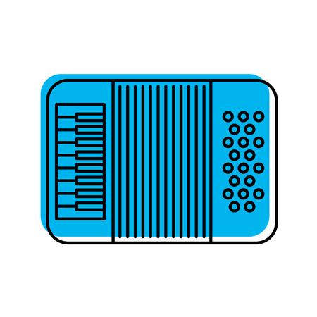 Accordeon muziek instrument icoon vector illustratie ontwerp