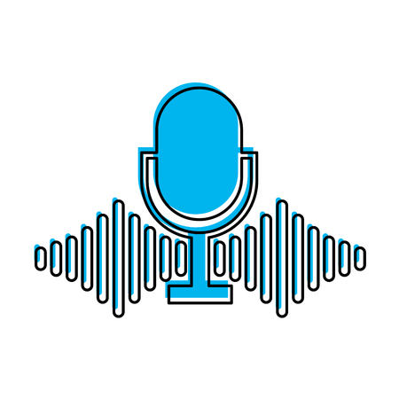 voices: microphone audio isolated icon vector illustration design