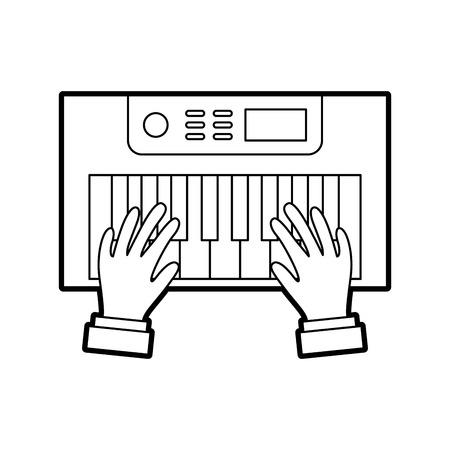 hands user with Synth console vector illustration design Reklamní fotografie - 83256998