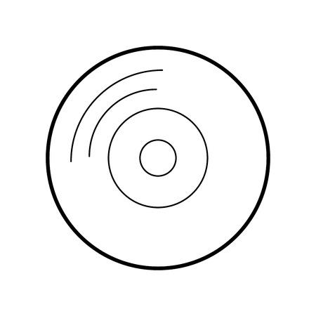 비닐 오래 된 음악 아이콘 벡터 일러스트 레이 션 디자인