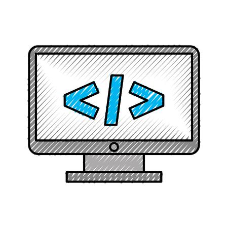 計画言語ベクトル イラスト デザインとコンピューターのデスクトップ 写真素材 - 83257282