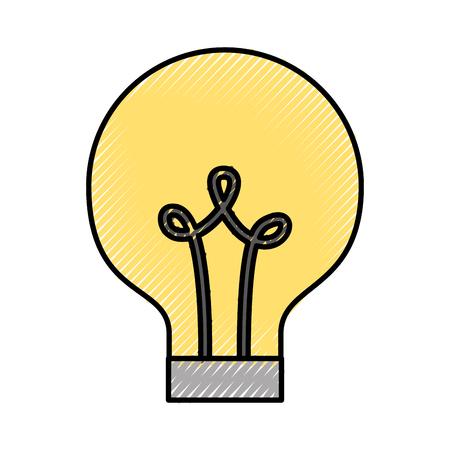 Birne Licht isoliert Symbol Vektor-Illustration , Design , Standard-Bild - 83257289