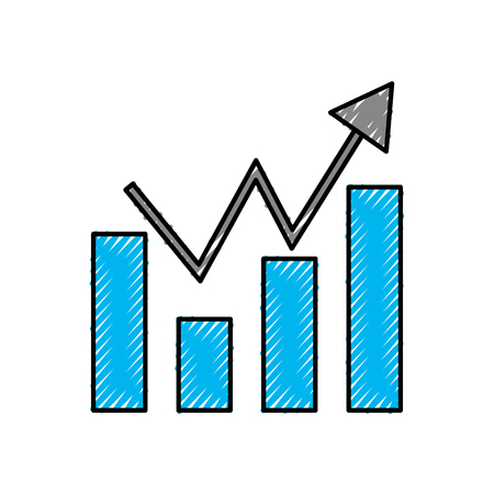 statistic graphic isolated icon vector illustration design