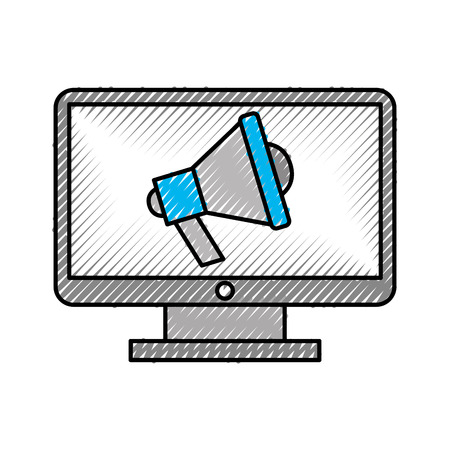 メガホン ベクトル イラスト デザインとコンピューターのデスクトップ 写真素材 - 83256348