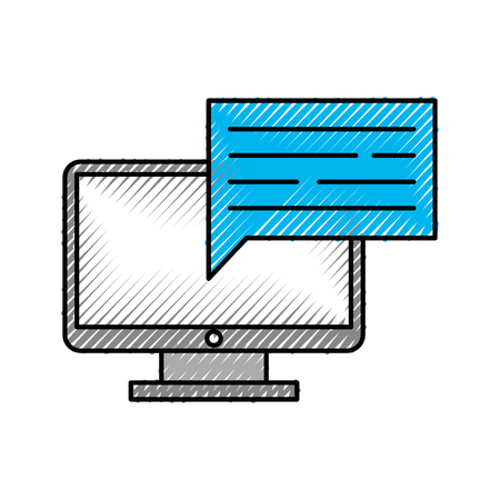 音声バブル ベクトル イラスト デザインとコンピューターのデスクトップ 写真素材 - 83256367
