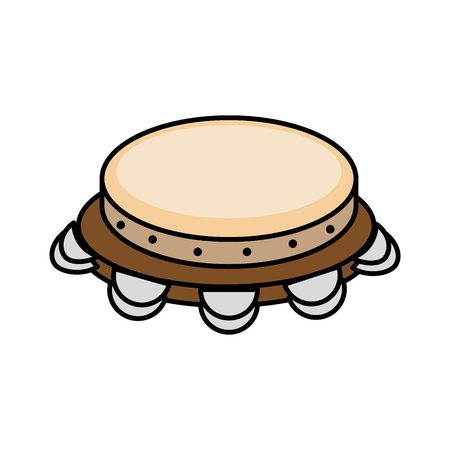 Tambourine music instrument icon vector illustration graphic design