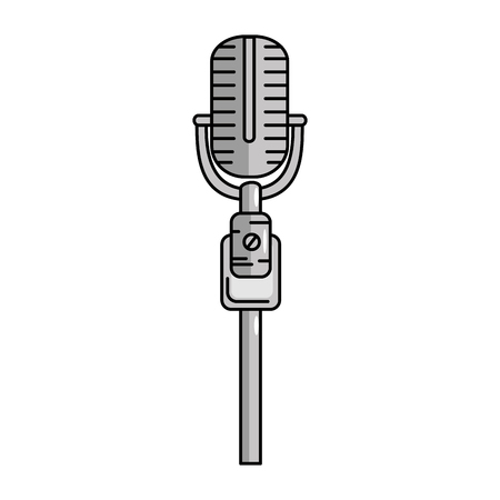 Microphone vintage device icon vector illustration graphic design