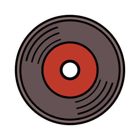 Vintage vinyl isolated icon vector illustration graphic design