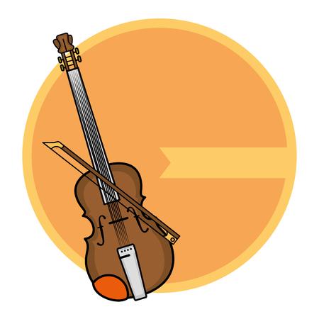 Music instrument emblem label icon vector illustration graphic design