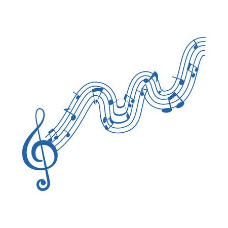 Musique note symbole icône illustration vectorielle conception graphique Banque d'images - 83259925