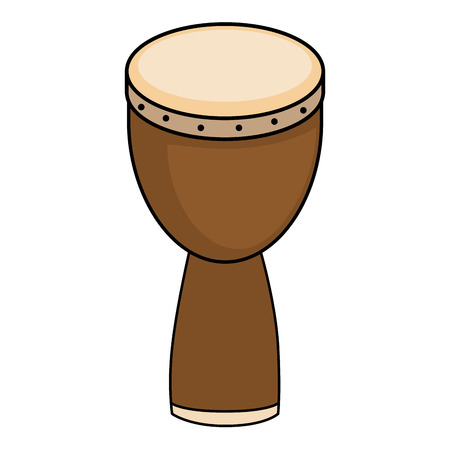African drum music instrument icon vector illustration graphic design