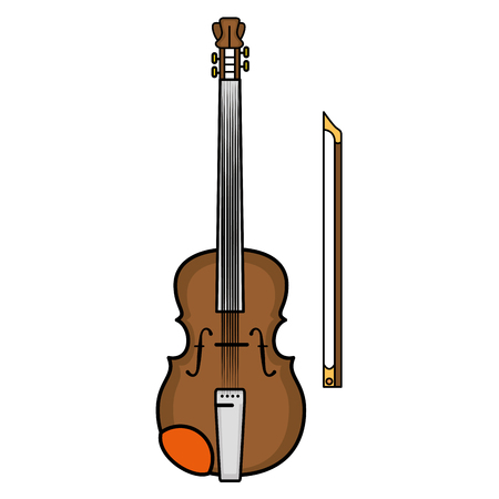 Violin music instrument icon vector illustration graphic design Reklamní fotografie - 83259960