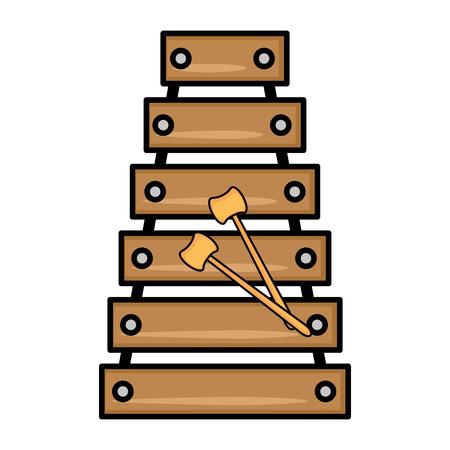 Marimba music instrument icon vector illustration graphic design Stock Illustration - 83259964