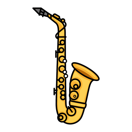 Saxophone music instrument icon vector illustration graphic design 版權商用圖片