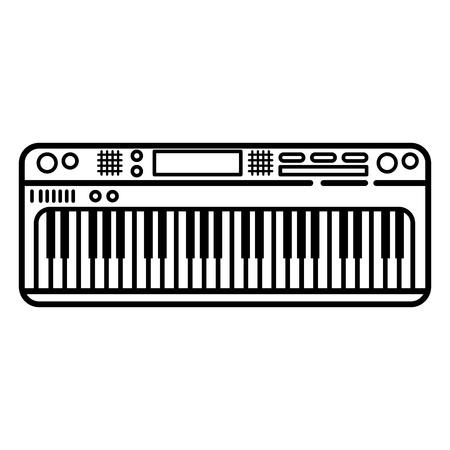 Piano keyboard modern instrument icon vector illustration graphic design Illustration