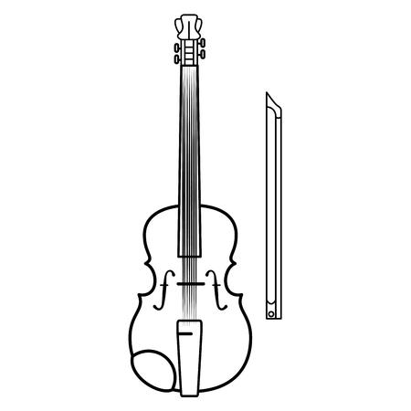 Viool muziek instrument icoon vector illustratie grafisch ontwerp