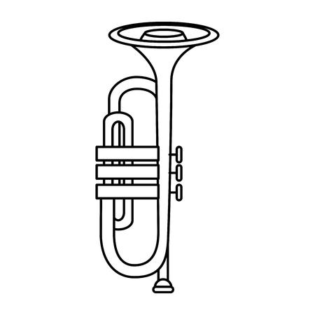 Trompeta de música icono de instrumento de diseño gráfico de ilustración vectorial Foto de archivo - 83261189