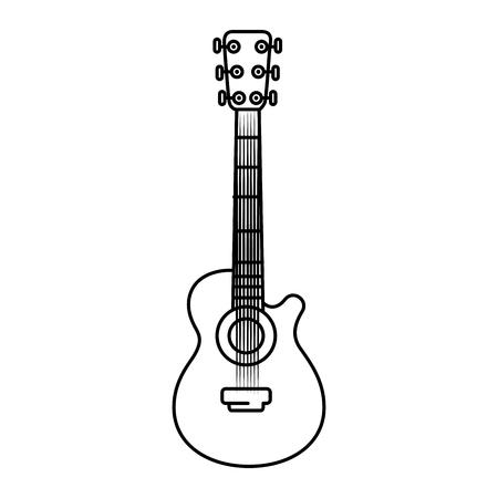 어쿠스틱 기타 음악 악기 아이콘 벡터 일러스트 그래픽 디자인