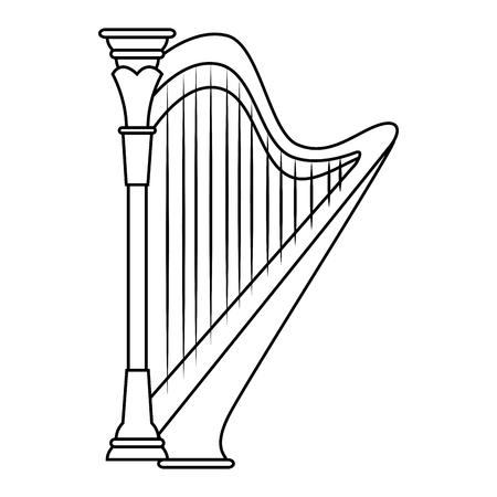 Harp instrumento de música icono de la ilustración vectorial diseño gráfico Foto de archivo - 83261191