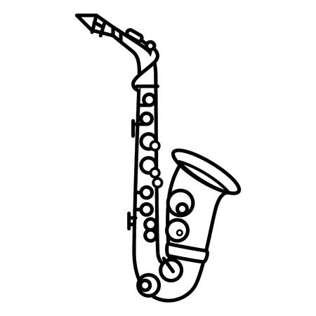 Diseño gráfico del ejemplo del vector del icono de la música del saxofón Foto de archivo - 83261192