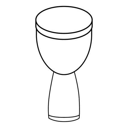 Diseño gráfico africano del ejemplo del vector del icono del instrumento de música del tambor Foto de archivo - 83261196